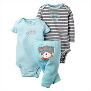 Carter's Baby Boy 3 PC Dog Puppy Outfit Daddy